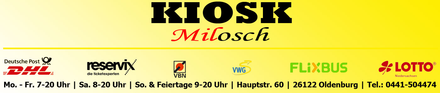 Kiosk Milosch Banner